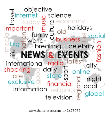 Word collage news headline keyword text stock illustration 143673079 word collage with news headline and keyword text on news theme and world map wallpaper gumiabroncs Images