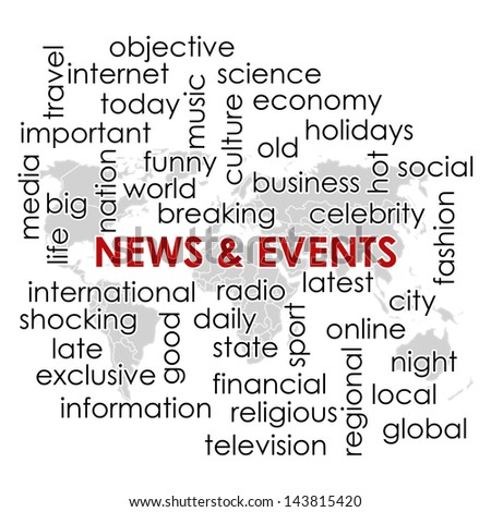 Word collage news headline keyword text stock illustration 143815420 word collage with news headline and keyword text on news theme and world map wallpaper gumiabroncs Images