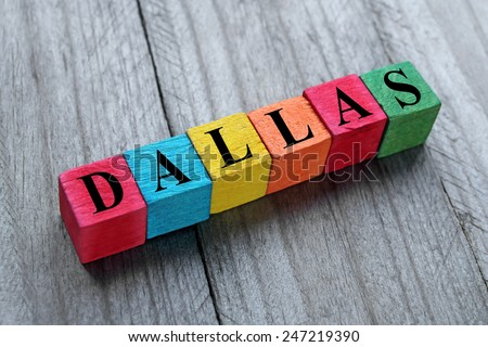 word dallas on colorful wooden cubes - stock photo
