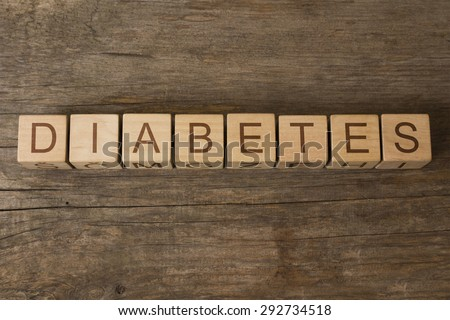word diabetes on wooden cubes - stock photo