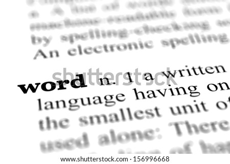 word from dictionary, close up - stock photo