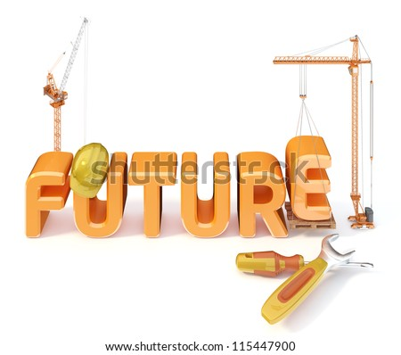 Word future on the white background - stock photo