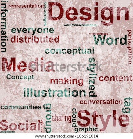 Word Grunge collage on background. - stock photo