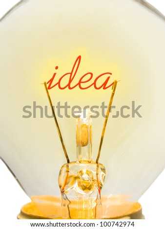 Word Idea in lamp - technology concept - stock photo
