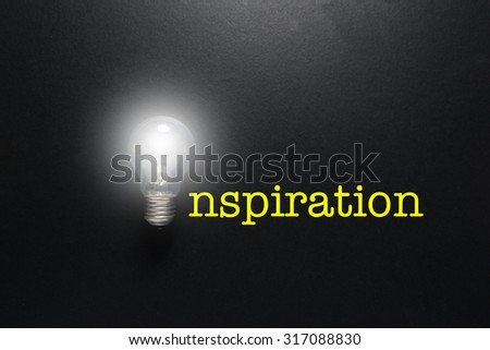 word inspiration concept on the black background - stock photo