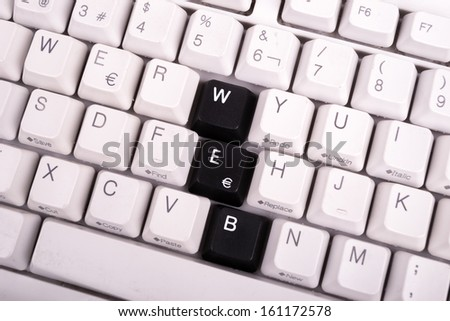 Word JOB written with black keys on computer keyboard. - stock photo