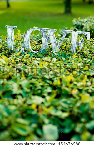 word love on the lawn