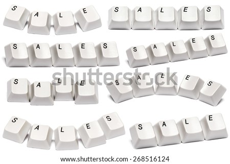 Word sale collected from computer keyboard buttons isolated on white background - stock photo