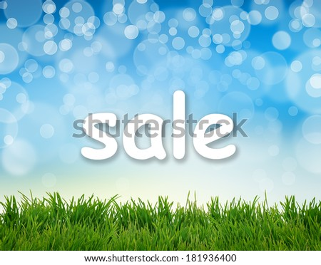 Word Sale on abstract natural background - stock photo