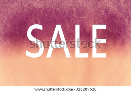 word sale on  watercolor textured. fashion illustration