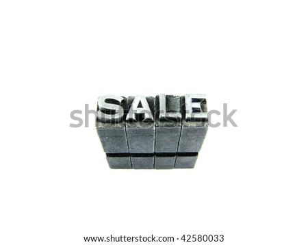 Word SALE, retro concept photography using forged steel letters - stock photo
