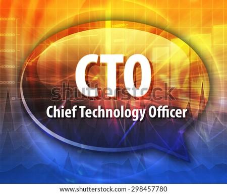 Speech bubble illustration information technology acronym - Chief information technology officer ...