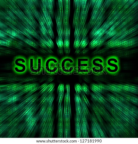 word Success on digital background - stock photo