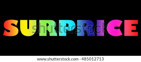 Word Surprice with colorful letters