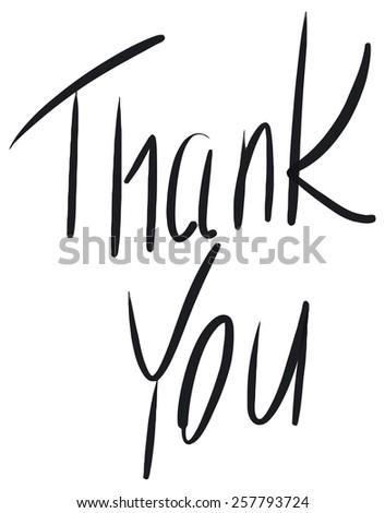 Word Thank You - stock photo
