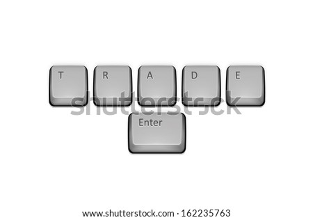 Word Trade on keyboard and enter key.