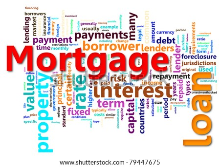 Wordcloud contains Words related to mortgage.