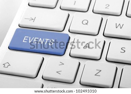Wording Events on computer keyboard - stock photo