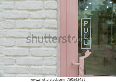Wording pull sticker put on clear glasses door or window letter wording sign