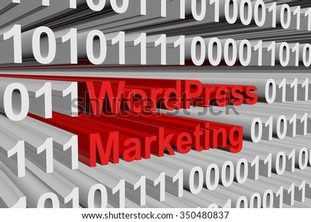 WordPress Marketing is presented in the form of binary code
