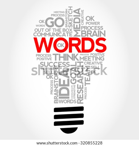 Words bulb word cloud, business concept - stock photo