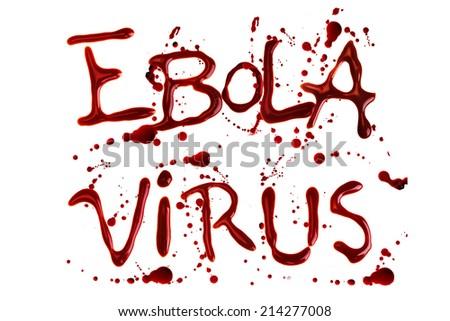 Words Ebola Virus isolated over white background - stock photo