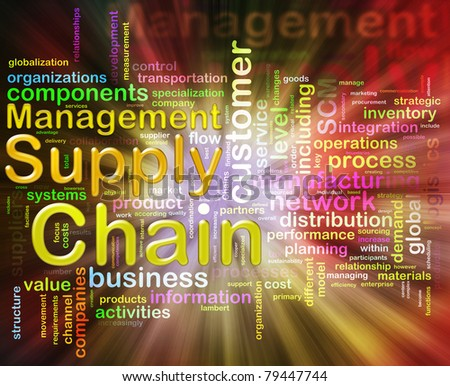 Words related to Chain supply management