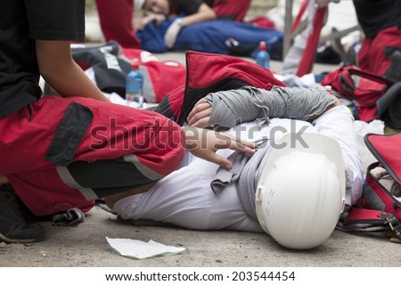 Work accident  - stock photo