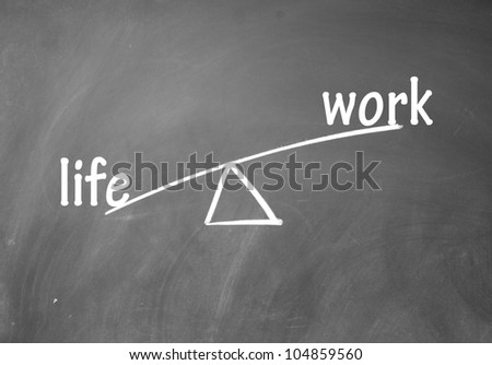 work and life choice - stock photo