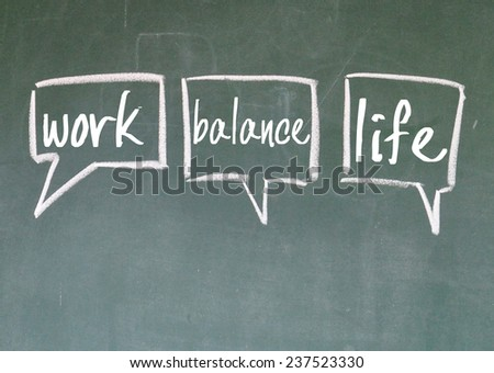 work and life choice sign on blackboard - stock photo