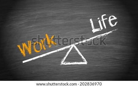 Work and Life Imbalance - stock photo