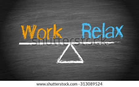 Work and Relax - Balance Concept - stock photo