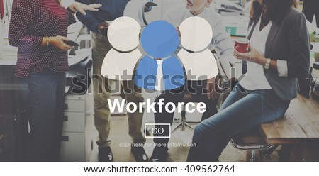Work Force Motivation Effort Energy Concept - stock photo