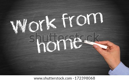 Work from home - stock photo