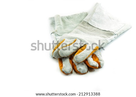 Work Gloves Isolated on white background - stock photo