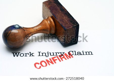 Work injury claim - confirm - stock photo