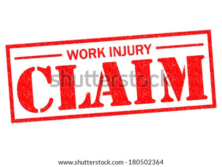 WORK INJURY CLAIM red Rubber Stamp over a white background. - stock photo
