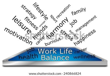 Work Life Balance wordcloud - stock photo
