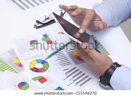 Work on the Work Table - stock photo