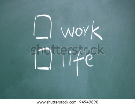 Work or life choices - stock photo