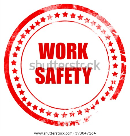 Work safety sign - stock photo
