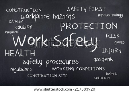 Work Safety Word Cloud - stock photo