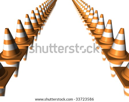Work site cone - stock photo
