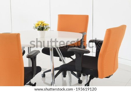 Work space in a office. Concept of time management - stock photo