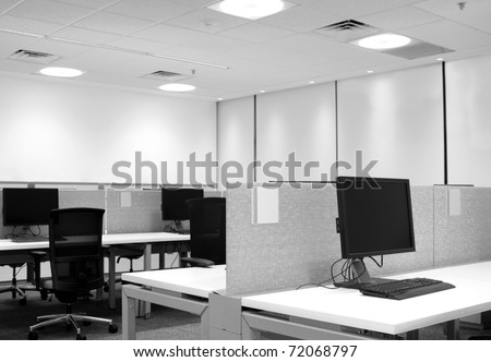 Work station. - stock photo