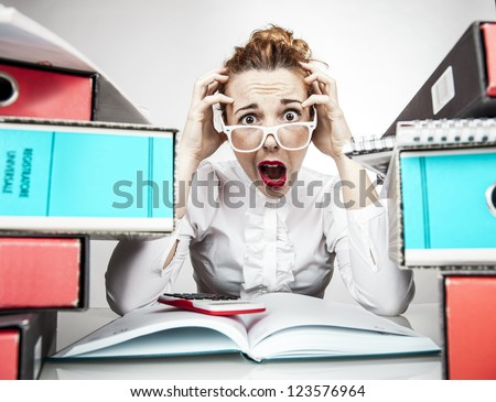 Work Stress Humor - stock photo