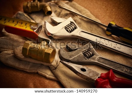 Work tools background. - stock photo