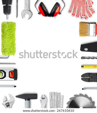 Work tools frame - stock photo