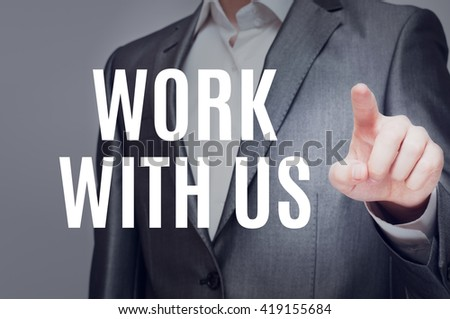 Work with us - stock photo