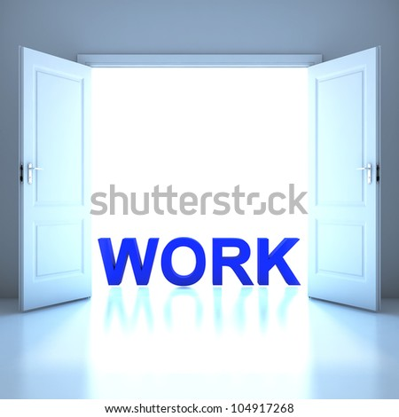 Work word conceptual in the future - stock photo